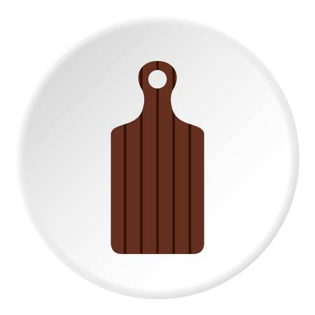 Cutting board icon. Flat illustration of cutting board vector icon for web