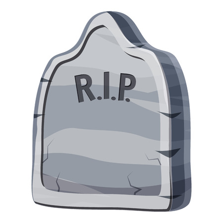 grave: Grave icon. Cartoon illustration of grave vector icon for web Illustration