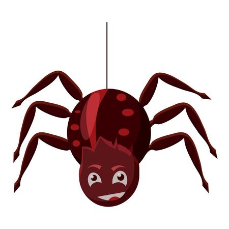 Spider icon. Cartoon illustration of spider vector icon for web Illustration