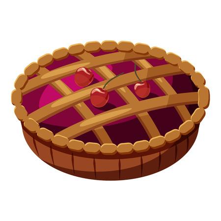 Pie icon. Cartoon illustration of pie vector icon for web Illustration
