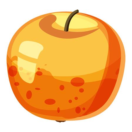 Apple icon. Cartoon illustration of apple vector icon for web