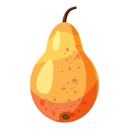pear shaped: Pear icon. Cartoon illustration of pear vector icon for web