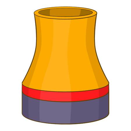 cooling tower: Cooling tower icon. Cartoon illustration of cooling tower vector icon for web Illustration