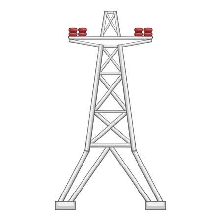 Electric pole icon. Flat illustration of electric pole vector icon for web Illustration