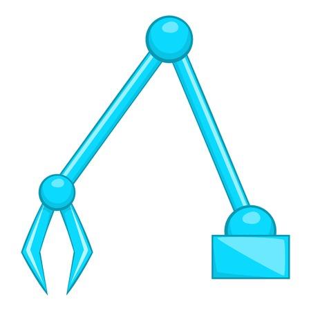 mini loader: Excavator icon. Flat illustration of excavator vector icon for web Illustration