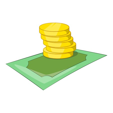 Coins icon. Isometric illustration of coins vector icon for web