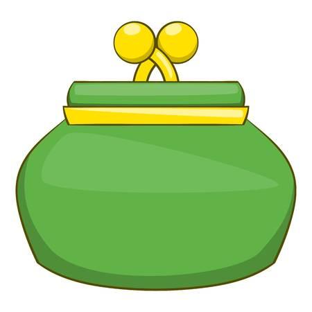 Purse icon. Cartoon illustration of purse vector icon for web Illustration