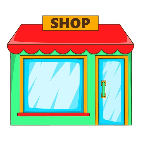frontdoor: Shop icon. Flat illustration of shop vector icon for web