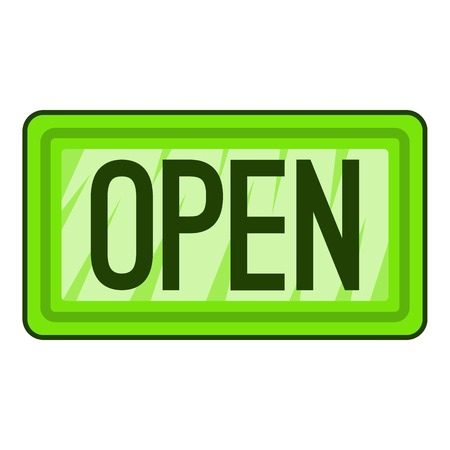 nameplate: Nameplate open icon. Flat illustration of nameplate open vector icon for web