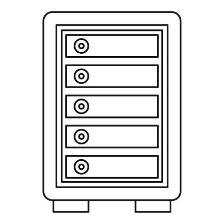 locker: Security safe locker icon. Outline illustration of security safe locker vector icon for web Illustration