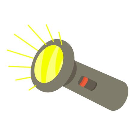 lite: Flashlight icon. Isometric 3d illustration of flashlight vector icon for web