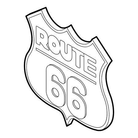 Route 66 icon. Isometric 3d illustration of route 66 vector icon for web