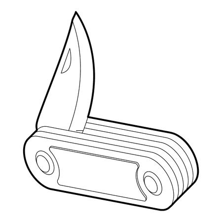 penknife: Penknife icon. Isometric 3d illustration of penknife vector icon for web