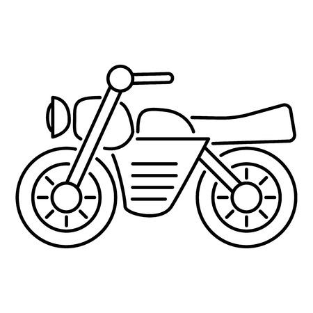 Motorrad-Symbol. Grunge Abbildung Von Motorrad-Vektor-Symbol Für Web ...