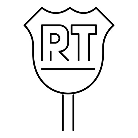 rt: RT sign icon. Outline illustration of vector icon for web Illustration