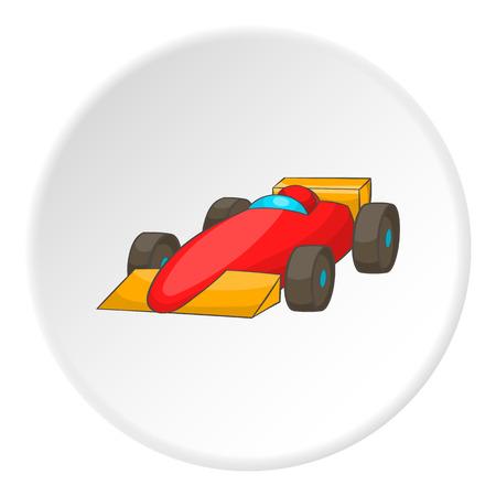 speedway: Red sport car icon. Cartoon illustration of red sport car vector icon for web Illustration