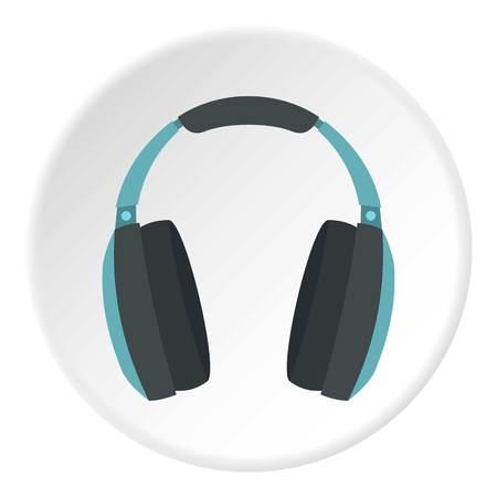 Headphone icon. Flat illustration of headphone vector icon for web design