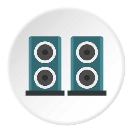 Audio speakers icon. Flat illustration of audio speakers vector icon for web design