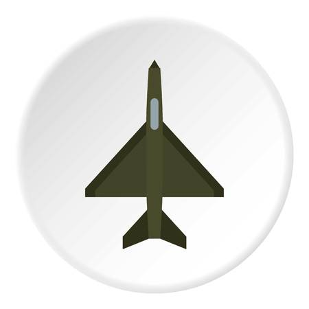 fighter plane: Fighter plane icon. Flat illustration of airplane vector icon for web design Illustration