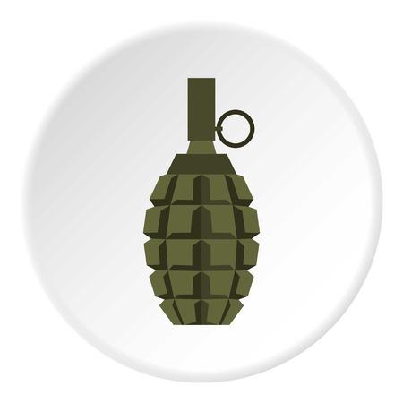 Hand grenade icon. Flat illustration of grenade vector icon for web design Illustration