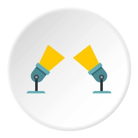 flashlights: Spotlights icon. Flat illustration of spotlights vector icon for web design Illustration
