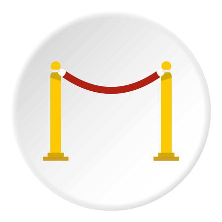 rope vector: Barrier rope icon. Flat illustration of barrier rope vector icon for web design