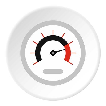 Exclusive speedometer icon. Flat illustration of exclusive speedometer vector icon for web Illustration