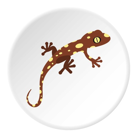 Spotted chameleon icon. Flat illustration of spotted chameleon vector icon for web