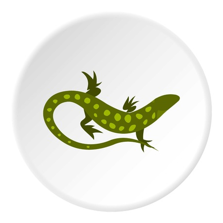 spotted: Spotted lizard icon. Flat illustration of spotted lizard vector icon for web