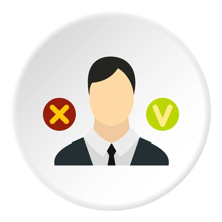 expel: Dismissal of employees icon. Flat illustration of dismissal of employees vector icon for web