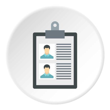 summary: Summary in folder icon. Flat illustration of summary in folder vector icon for web