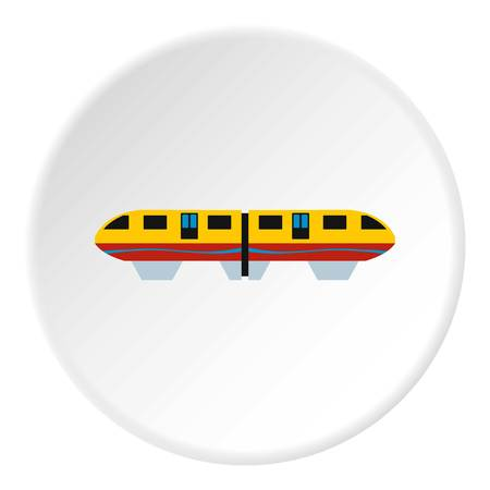 electric train: Electric train icon. Flat illustration of electric train vector icon for web