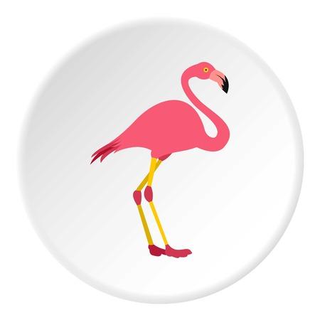 Flamingo icon. Flat illustration of flamingo vector icon for web