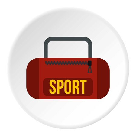 carryall: Sports bag icon. Flat illustration of sports bag vector icon for web