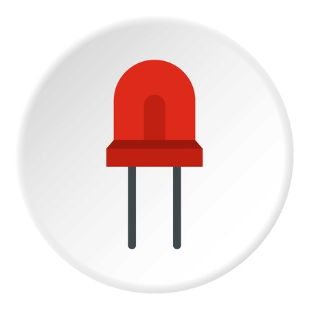 halogen: Red halogen lamp icon. Flat illustration of red halogen lamp vector icon for web