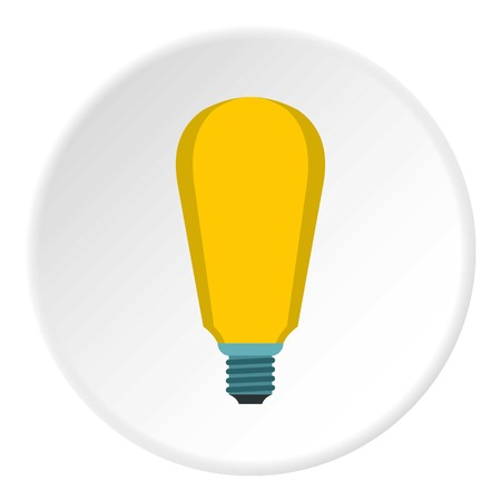 Powerful lamp icon. Flat illustration of powerful lamp vector icon for web