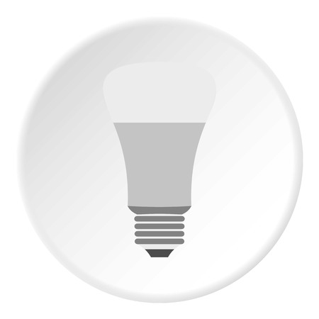 Grey lamp icon. Flat illustration of grey lamp vector icon for web