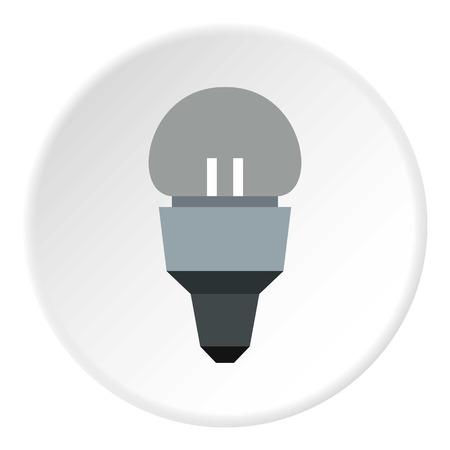 led lamp: Led lamp icon. Flat illustration of led lamp vector icon for web