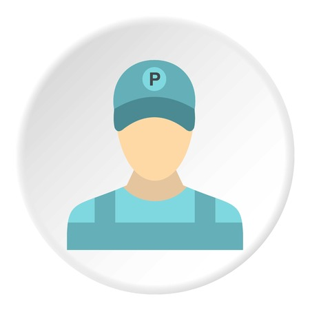 career entry: Man valet icon. Flat illustration of man valet vector icon for web