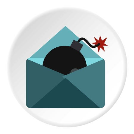hacking: Hacking e-mail icon. Flat illustration of hacking e-mail vector icon for web Illustration