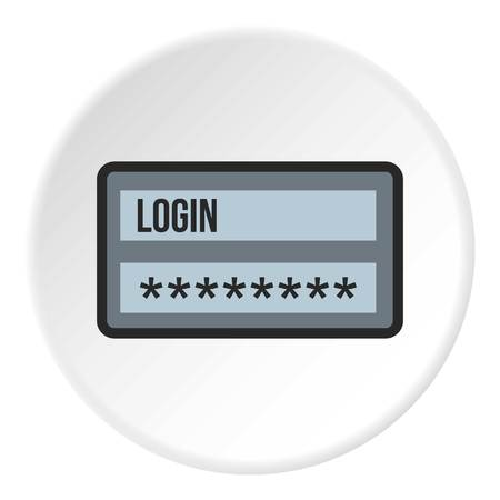 color registration: Username and password icon. Flat illustration of username and password vector icon for web