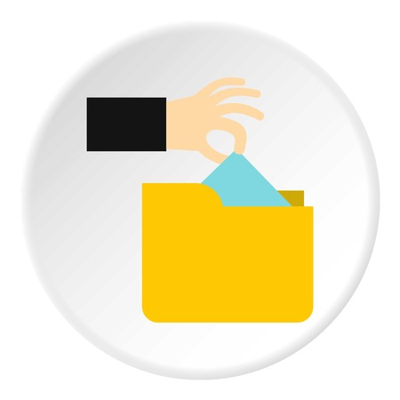 stealing: Hand stealing e-mail icon. Flat illustration of hand stealing e-mail vector icon for web