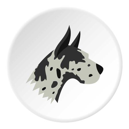 great dane: Great dane dog icon. Flat illustration of great dane dog vector icon for web Illustration