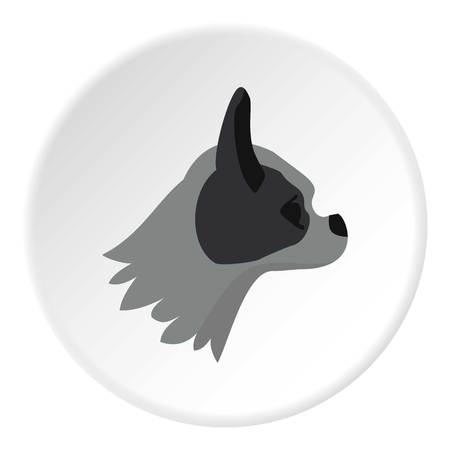 pug dog: Pug dog icon. Flat illustration of pug dog vector icon for web Illustration