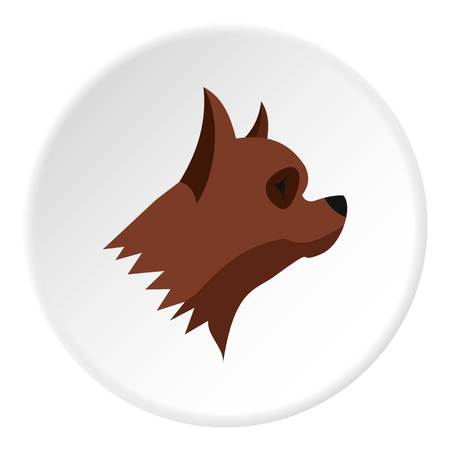 Pinscher dog icon. Flat illustration of pinscher dog vector icon for web Illustration