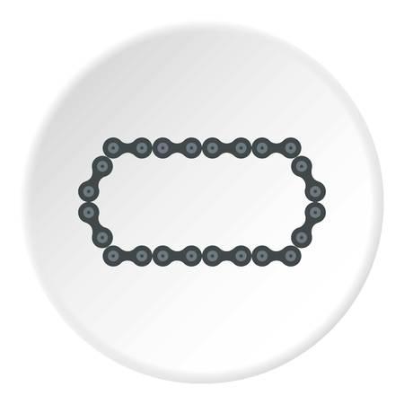 bike chain: Bike chain icon. Flat illustration of bike chain vector icon for web
