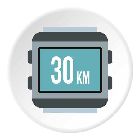 kilometre: Speedometer for bike icon. Flat illustration of speedometer for bike vector icon for web Illustration