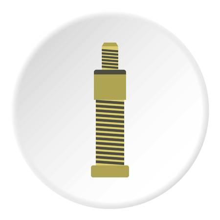 bolt: Bolt icon. Flat illustration of bolt vector icon for web