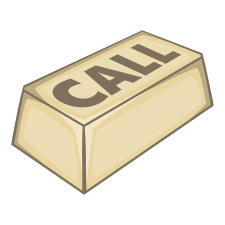 call button: Call button icon. Isometric illustration of call button vector icon for web