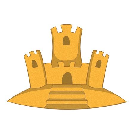 sand castle: Sand castle icon. Cartoon illustration of sand castle vector icon for web
